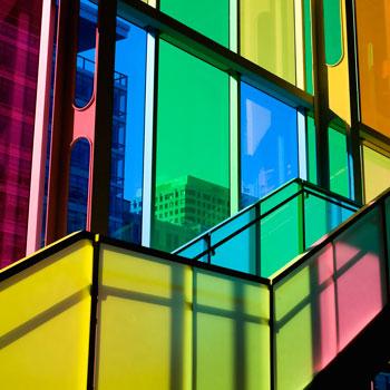 欧式彩色玻璃屏风